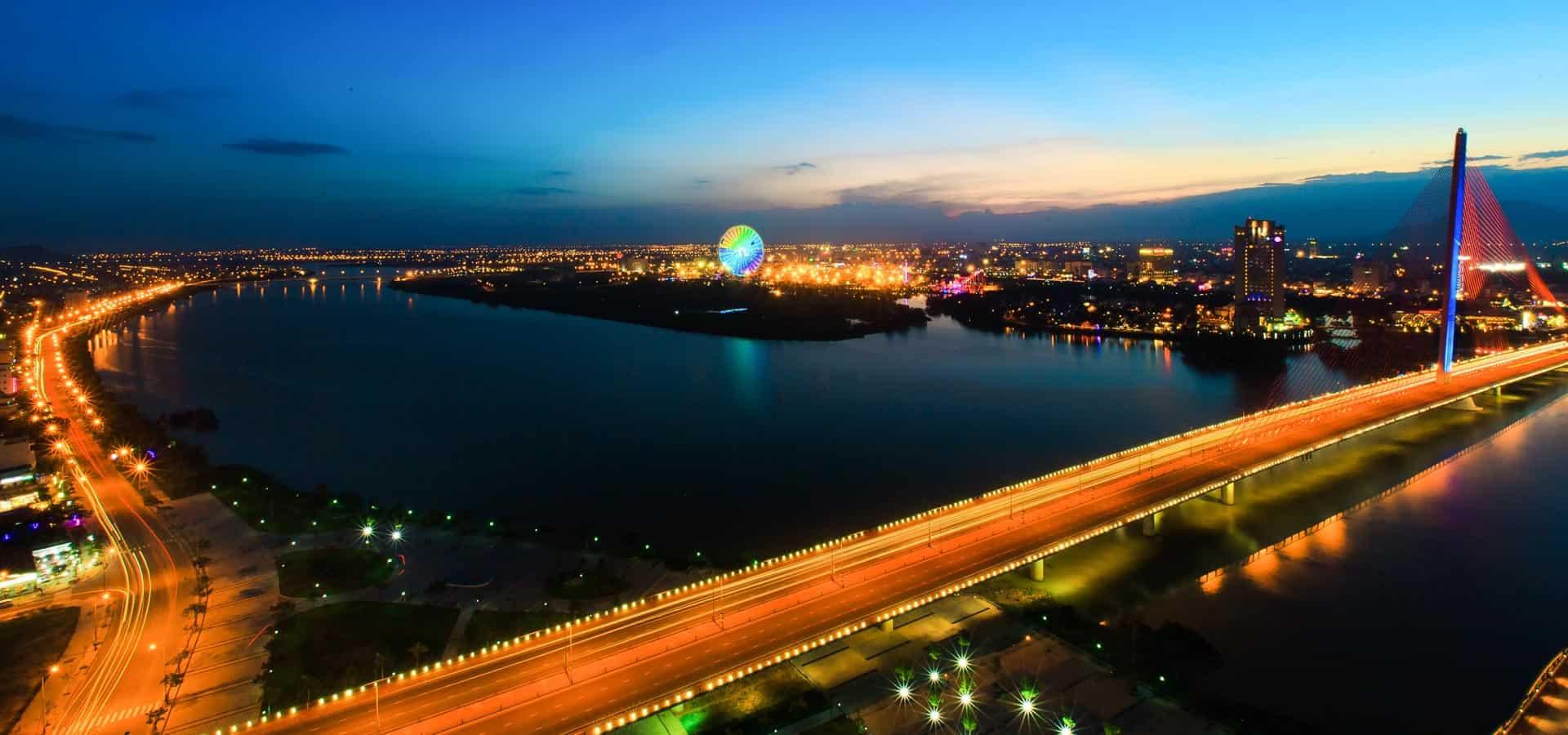 Ville de Danang au Vietnam