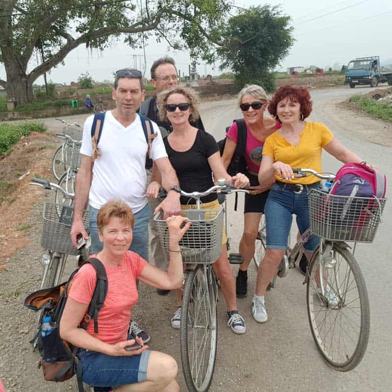 Promenade à vélo à Duong lam