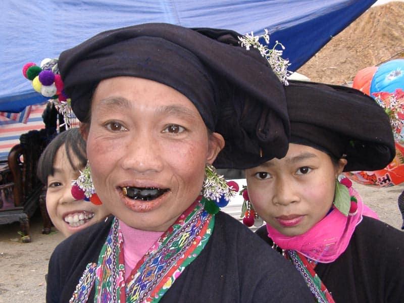 ethnie Lu au Marché