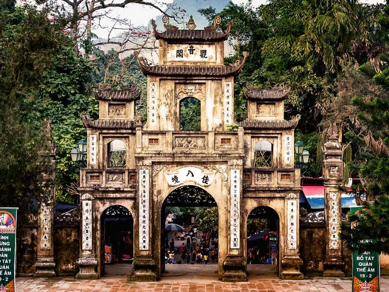 portique de la pagode des parfums