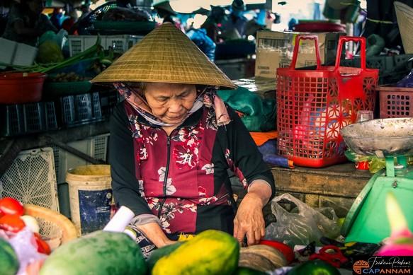 le marché de Hoi An, Vietnam
