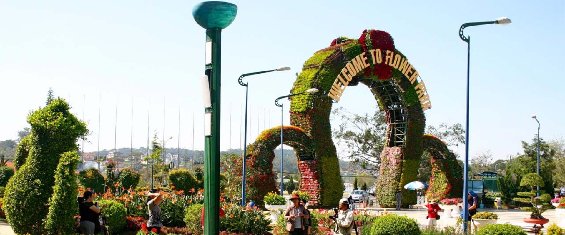 le jardin des fleurs de Dalat