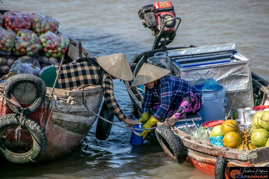marche flottant de Cai Rang