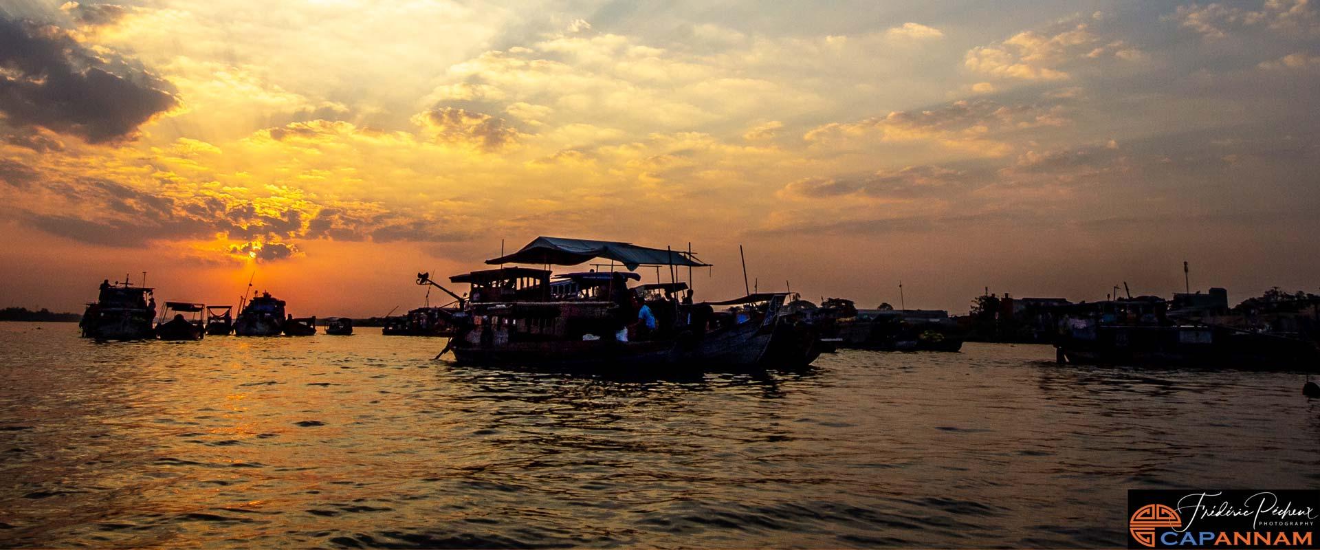 marche flottant de Cai Rang - Can Tho